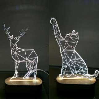 Geometry Deer LED Night Light