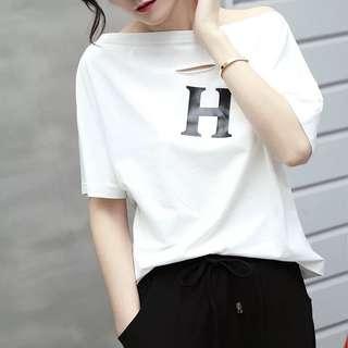 🚚 韓版休閒女裝短袖棉質上衣T恤
