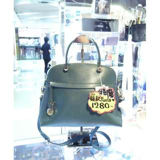 Furla Green Leather Crossbody Shoulder Handbag Hand Bag 綠色 牛皮 皮革 手挽袋 手袋 肩袋 袋
