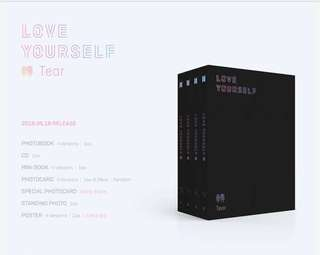[PREORDER/INCOMING INSTOCK] BTS - Love Yourself Tear Album - Y Ver. / O Ver. / U Ver. / R Ver