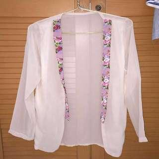 Pink Sheer Cardigan