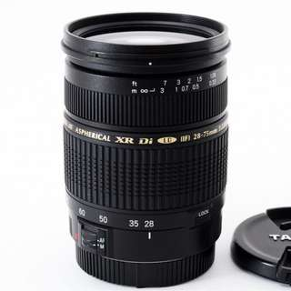 Tamron 28-75mm F2.8 XR Di AF Lens for Canon EF. Like New. Never used.
