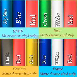Flag matte chrome strip
