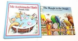 2 books: The Bungle in the Jungle /Mr Archimedes Bath