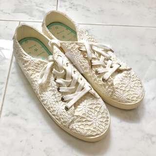 Bershka Crochet Sneakers Size 38