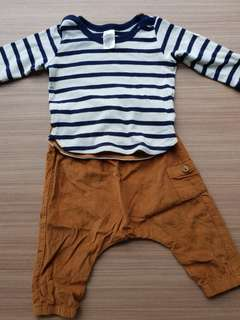 H&M Baby Boy Top & Pant