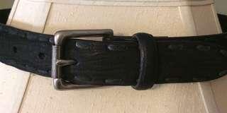 Women's Black Leather Belt Size Small