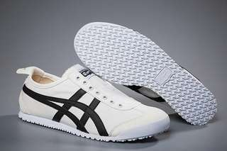 Authentic Onitsuka Tiger Mexico 66 Slip on Beige/ Black