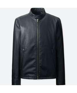 Uniqlo Faux Leather Single Breasted jacket