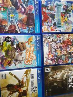PS4, PS Vita and 3DS games for sales