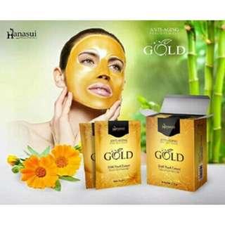 Masker shiseido gold hanasui