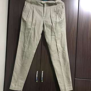 Mango Casual Linen Pants for women