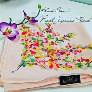 Blush magic patch shawl