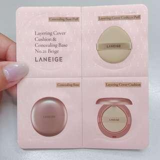 laneige concealing base samples (no.21 Beige)