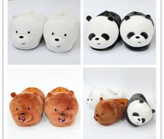 We Bare Bears Bedroom Slippers