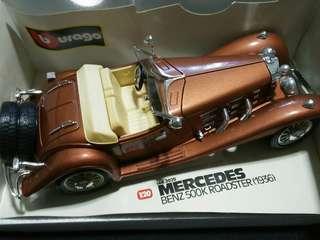 Mercedes-Benz 500K Roadster 1936 1/18 Burago Diecast