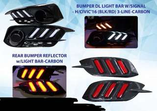 civic reflector with light bar lamp