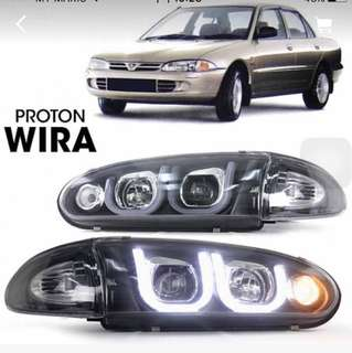 wira head lamp light bar led