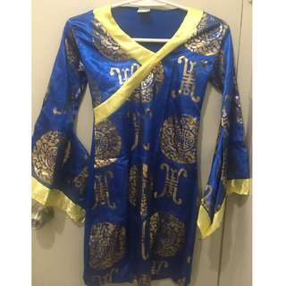 Chinese costume dress with belt