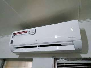 LG SPLIT TYPE AIRCON DUAL INVERTER with Free Installation