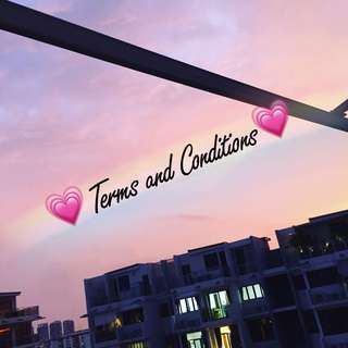 Terms and conditions 👯♀️