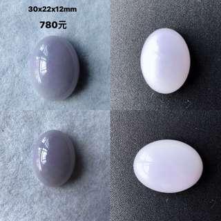 天然緬甸翡翠A貨紫羅蘭蛋面大大粒