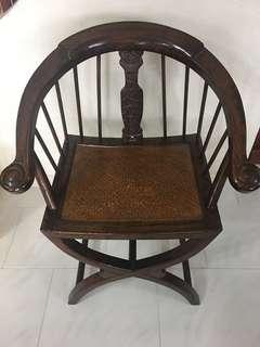 Antique Teak Wood Chair from Brunei