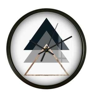 Nordic Geometric Wall Clock