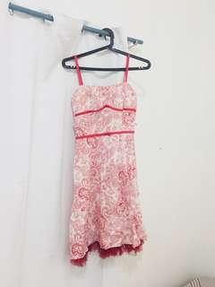 Red Printed Dress
