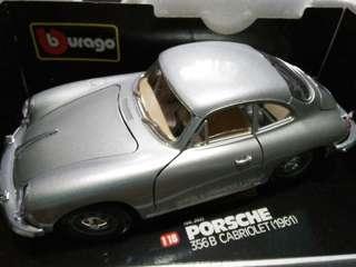 Porsche 356B Cabriolet 1961 1/18 Burago Diecast