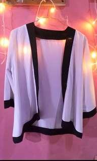 SALE RAMADHAN!!!! SPECIAL PRICE 16MEI – 31MEI, ALL ITEM 35K *FREE ONGKIR *FREE GIFT - White Blazer / white outer / white kimono