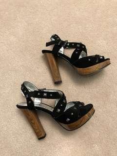 Killah Sandal Strappy Studded Platform Heels Size 36