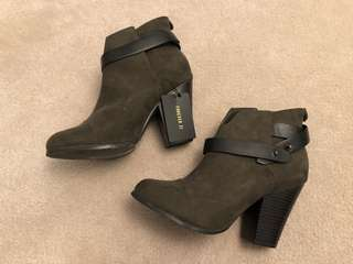 Forever 21 Hunter Green Booties