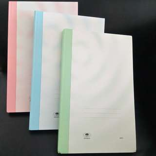 Hardcover Colour Wave Design Student's Foolscap Books. Brand new, never used