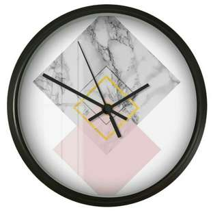 Nordic Pink Geometric Wall Clock