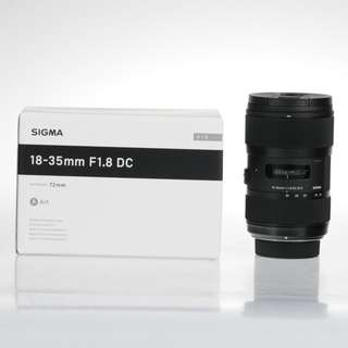 SIGMA ART 18-35MM F/1.8 DC HSM LENS FOR NIKON MOUNT. ORIGINAL BOX. LIKE NEW.