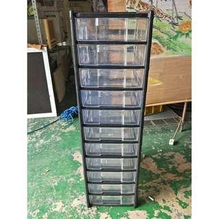 東鼎二手家具 11抽 塑膠效率櫃*壓克力櫃*零件櫃*文件櫃*資料櫃*公文櫃*檔案櫃*理想櫃*辦公櫥櫃*鐵櫃*置物櫃