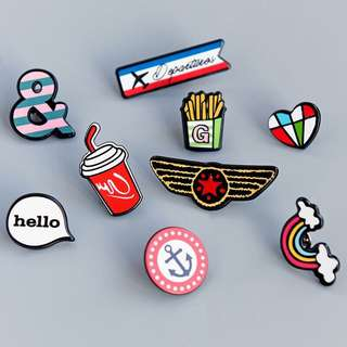 Ulzzang Metal Brooch Pin PO