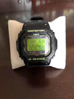 G-shock 綠面黑膠帶