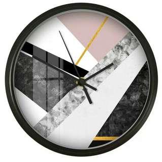 Nordic Geometric Design Wall Clock