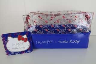 Authentic ColourPop x Hello Kitty Makeup Bag