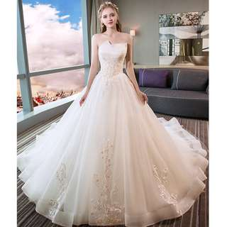 Wedding Collection - Layers Tube Design Romantic Style Long Tail Wedding Gown