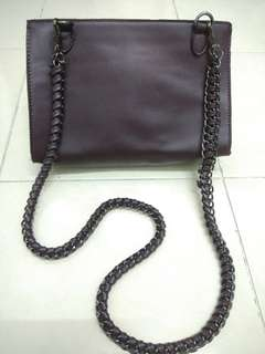 ZALORA Burgundy Sling Bag