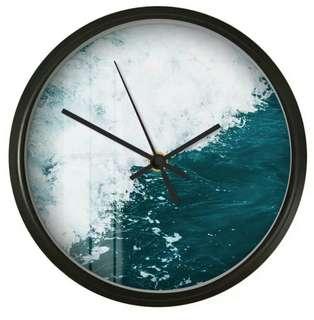 Nordic Sea Waves Wall Clock