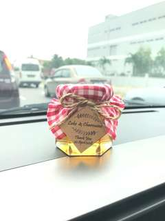 Wedding Door Gift- honey in jar