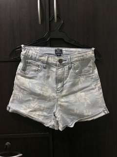 Gap Floral Denim Highwaist Shorts