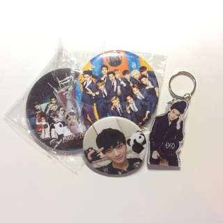 EXO Keychain and Badges #20under #list4sbux