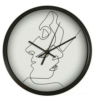 Nordic Abstract Lovers Wall Clock