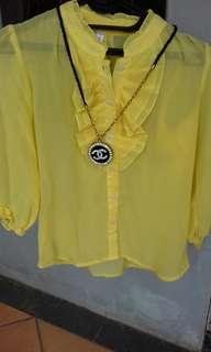 Blus kuning (no deffect) UK S