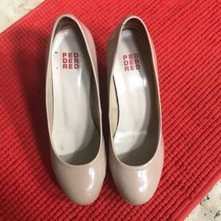 Nude pedder red shoes